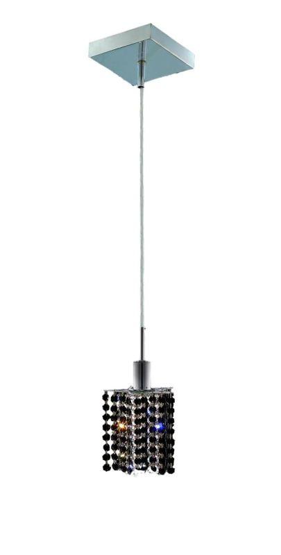 Elegant Lighting 1281D-S-P-JT Mini 1-Light Crystal Pendant Finished