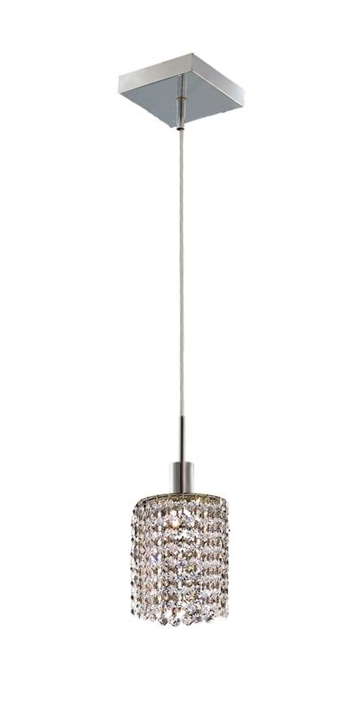 Elegant Lighting 1281D-S-R-CL Mini 1-Light Crystal Pendant Finished