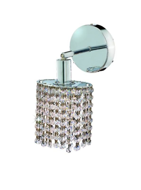 Elegant Lighting 1281W-R-E-CL Mini 1-Light Crystal Wall Sconce
