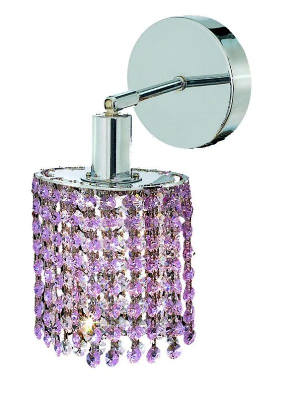 Elegant Lighting 1281W-R-E-RO Mini 1-Light Crystal Wall Sconce