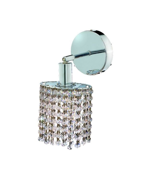 Elegant Lighting 1281W-R-R-CL Mini 1-Light Crystal Wall Sconce
