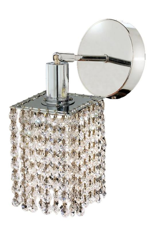 Elegant Lighting 1281W-R-S-CL Mini 1-Light Crystal Wall Sconce