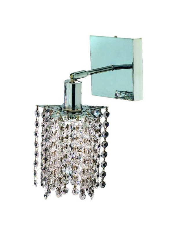 Elegant Lighting 1281W-S-P-CL Mini 1-Light Crystal Wall Sconce