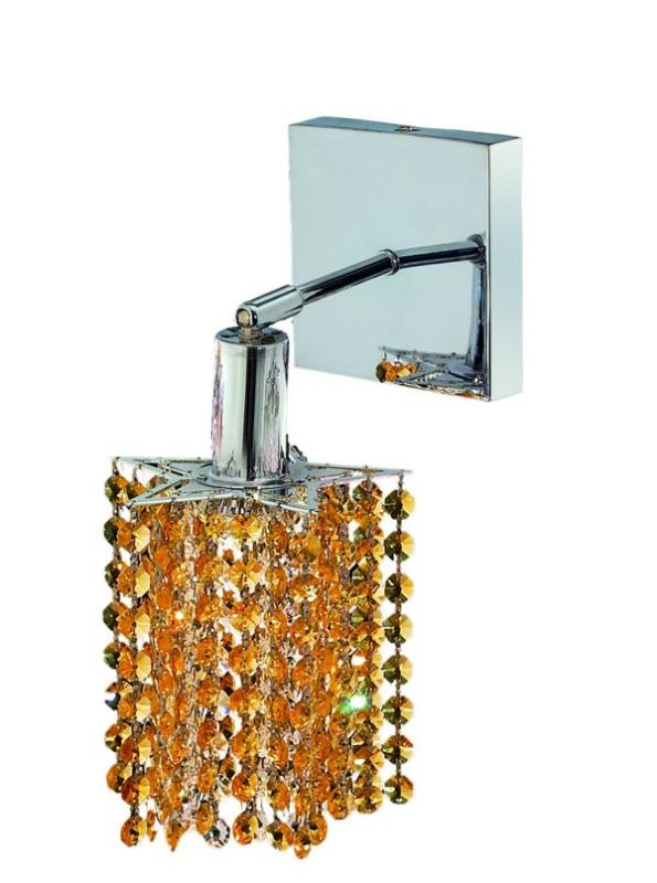 Elegant Lighting 1281W-S-P-LT Mini 1-Light Crystal Wall Sconce Sale $382.00 ITEM: bci2008541 ID#:1281W-S-P-LT/SS :