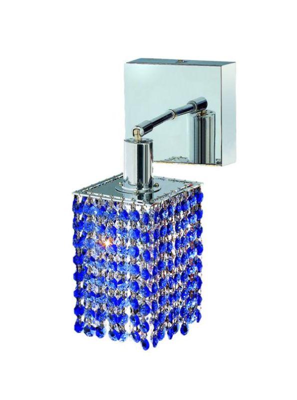 Elegant Lighting 1281W-S-S-SA Mini 1-Light Crystal Wall Sconce