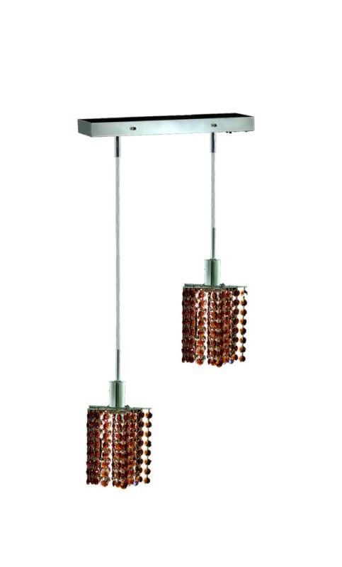 Elegant Lighting 1282D-O-P-TO Mini 2-Light Crystal Pendant Finished Sale $740.00 ITEM: bci2008627 ID#:1282D-O-P-TO/SS :