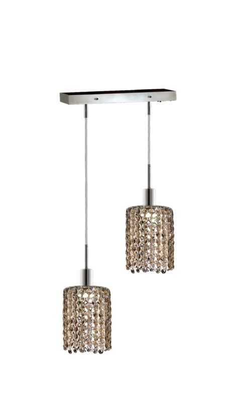 Elegant Lighting 1282D-O-R-GT Mini 2-Light Crystal Pendant Finished Sale $740.00 ITEM: bci2008635 ID#:1282D-O-R-GT/SS :