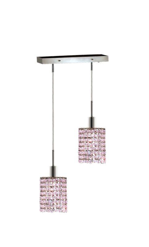 Elegant Lighting 1282D-O-R-RO Mini 2-Light Crystal Pendant Finished Sale $764.00 ITEM: bci2008643 ID#:1282D-O-R-RO/SS :