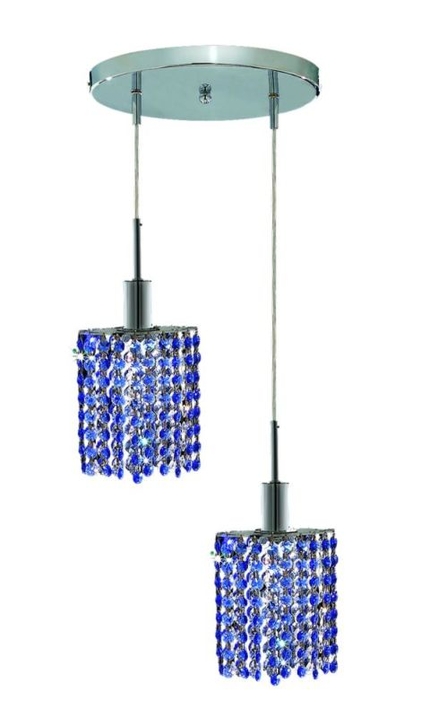 Elegant Lighting 1282D-R-E-SA Mini 2-Light Crystal Pendant Finished Sale $764.00 ITEM: bci2008685 ID#:1282D-R-E-SA/SS :
