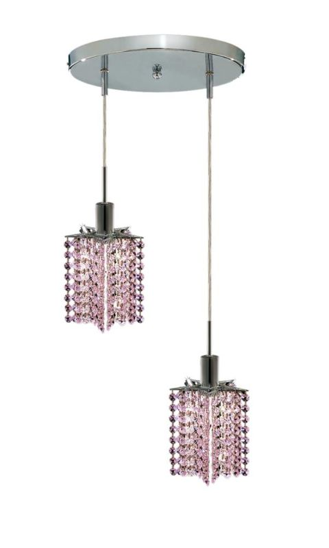 Elegant Lighting 1282D-R-P-RO Mini 2-Light Crystal Pendant Finished Sale $310.00 ITEM: bci2008702 ID#:1282D-R-P-RO/RC UPC: 609613232060 :