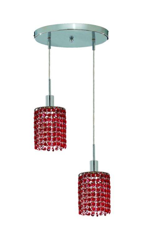 Elegant Lighting 1282D-R-R-BO Mini 2-Light Crystal Pendant Finished Sale $300.00 ITEM: bci2008708 ID#:1282D-R-R-BO/RC UPC: 609613232107 :