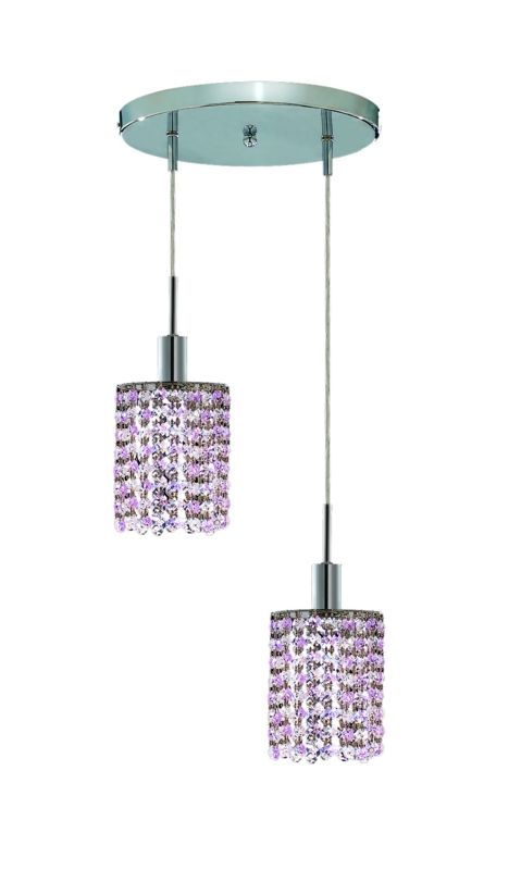 Elegant Lighting 1282D-R-R-RO Mini 2-Light Crystal Pendant Finished Sale $740.00 ITEM: bci2008723 ID#:1282D-R-R-RO/SS :