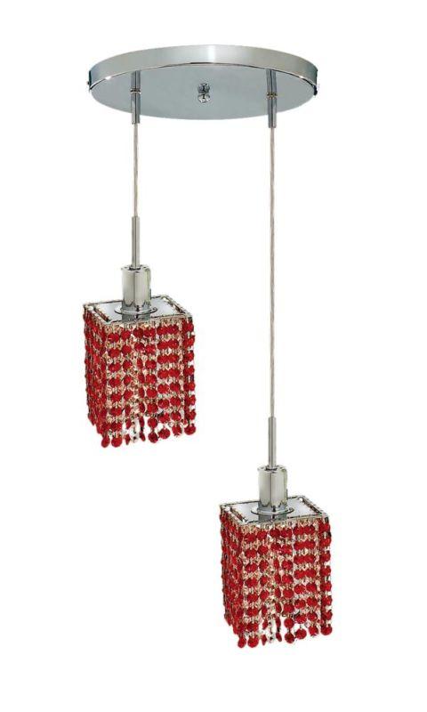 Elegant Lighting 1282D-R-S-BO Mini 2-Light Crystal Pendant Finished Sale $764.00 ITEM: bci2008729 ID#:1282D-R-S-BO/SS :