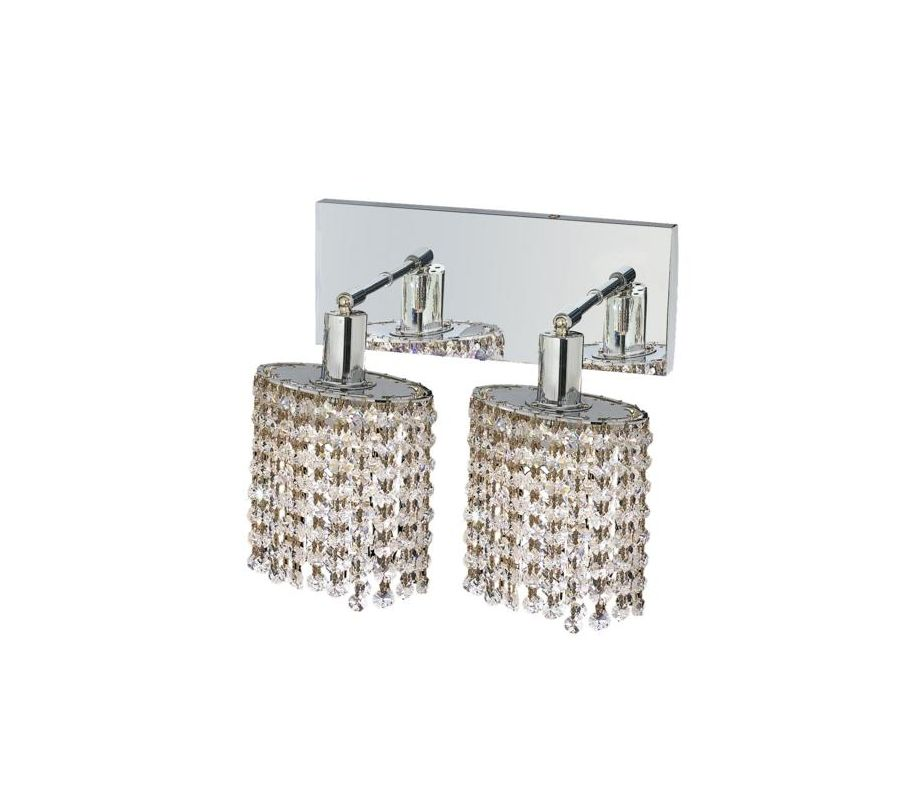Elegant Lighting 1282W-O-E-CL Mini 2-Light Crystal Wall Sconce