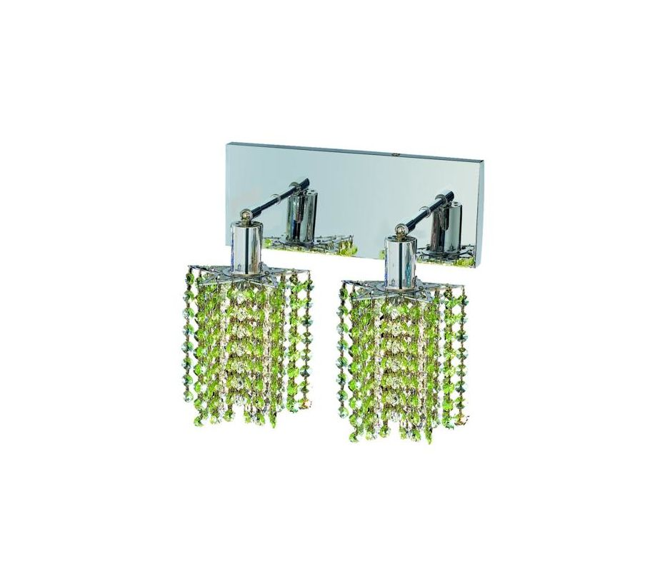 Elegant Lighting 1282W-O-P-LP Mini 2-Light Crystal Wall Sconce Sale $740.00 ITEM: bci2008779 ID#:1282W-O-P-LP/SS :