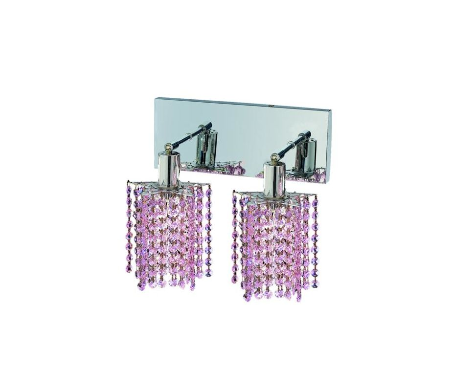 Elegant Lighting 1282W-O-P-RO Mini 2-Light Crystal Wall Sconce Sale $740.00 ITEM: bci2008783 ID#:1282W-O-P-RO/SS :