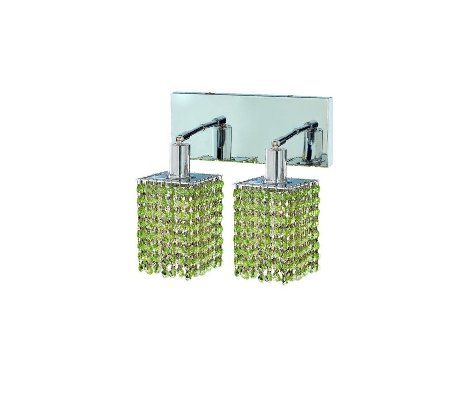 Elegant Lighting 1282W-O-S-LP Mini 2-Light Crystal Wall Sconce Sale $740.00 ITEM: bci2008819 ID#:1282W-O-S-LP/SS :