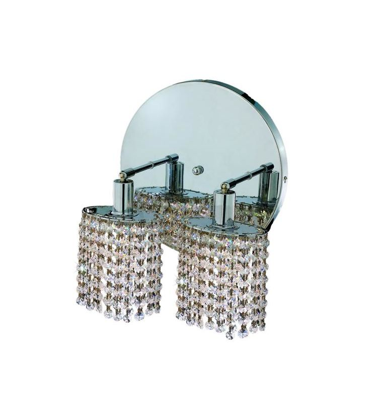 Elegant Lighting 1282W-R-E-CL Mini 2-Light Crystal Wall Sconce