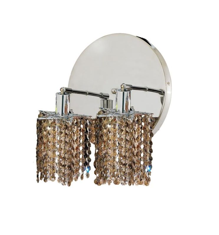 Elegant Lighting 1282W-R-P-GT Mini 2-Light Crystal Wall Sconce Sale $740.00 ITEM: bci2008855 ID#:1282W-R-P-GT/SS :