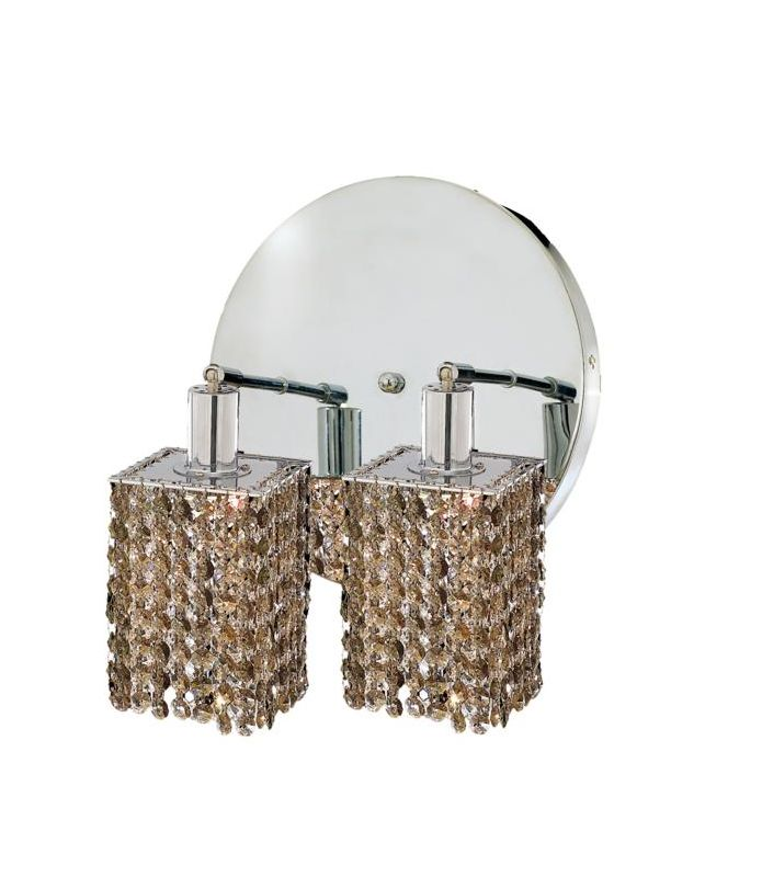 Elegant Lighting 1282W-R-S-GT Mini 2-Light Crystal Wall Sconce Sale $740.00 ITEM: bci2008875 ID#:1282W-R-S-GT/SS :