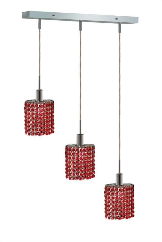 Elegant Lighting 1283D-O-E-BO Mini 3-Light Crystal Pendant Finished