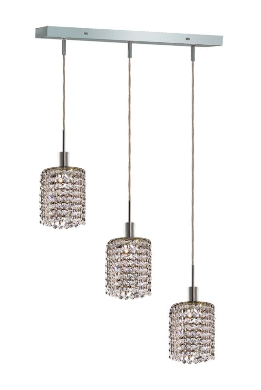 Elegant Lighting 1283D-O-R-CL Mini 3-Light Crystal Pendant Finished