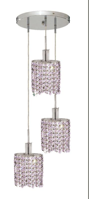 Elegant Lighting 1283D-R-E-RO Mini 3-Light Crystal Pendant Finished Sale $450.00 ITEM: bci2008982 ID#:1283D-R-E-RO/RC UPC: 609613233418 :
