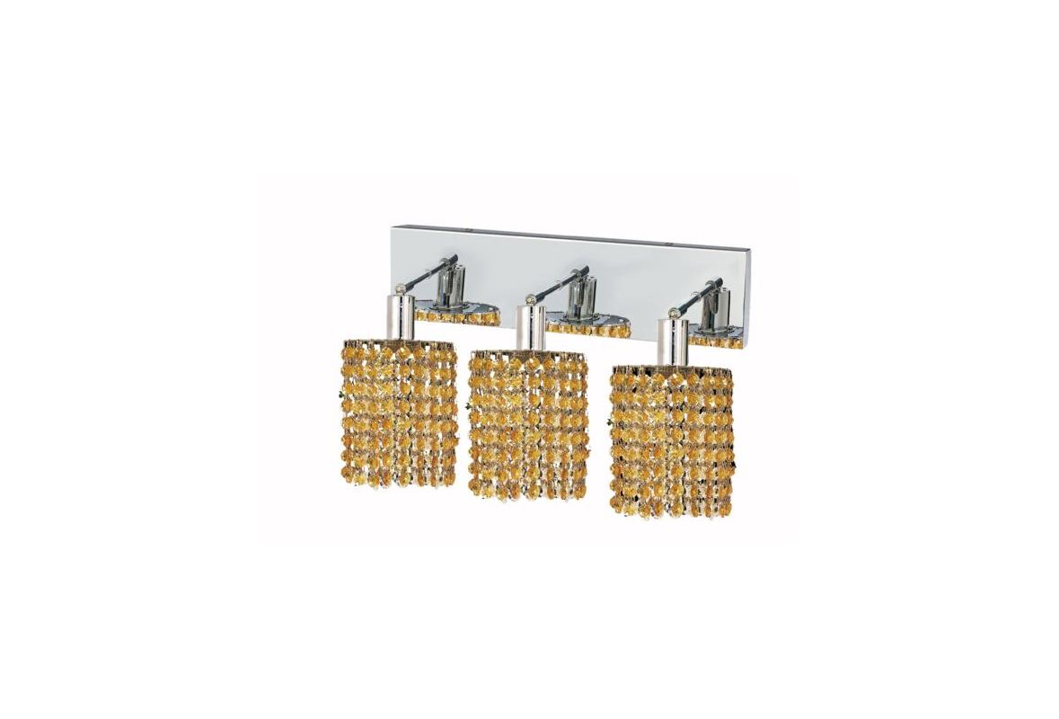 Elegant Lighting 1283W-O-R-LT Mini 3-Light Crystal Wall Sconce Sale $450.00 ITEM: bci2009096 ID#:1283W-O-R-LT/RC UPC: 609613233944 :