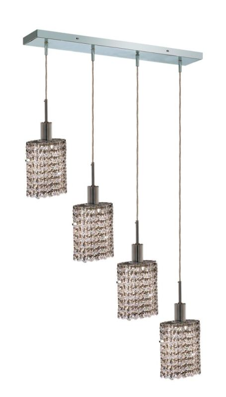 Elegant Lighting 1284D-O-E-CL Mini 4-Light Crystal Pendant Finished
