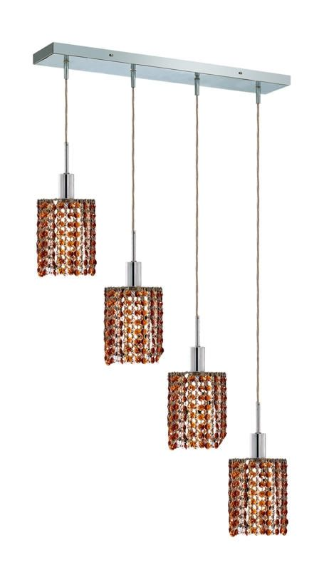 Elegant Lighting 1284D-O-R-TO Mini 4-Light Crystal Pendant Finished Sale $600.00 ITEM: bci2009182 ID#:1284D-O-R-TO/RC UPC: 609613234330 :