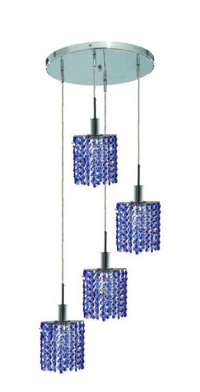 Elegant Lighting 1284D-R-E-SA Mini 4-Light Crystal Pendant Finished