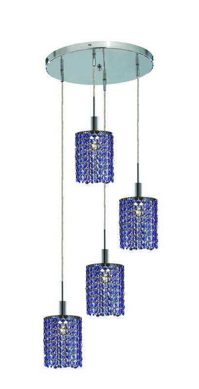Elegant Lighting 1284D-R-R-SA Mini 4-Light Crystal Pendant Finished Sale $618.00 ITEM: bci2009260 ID#:1284D-R-R-SA/RC UPC: 609613234682 :
