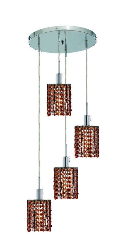 Elegant Lighting 1284D-R-R-TO Mini 4-Light Crystal Pendant Finished Sale $1526.00 ITEM: bci2009263 ID#:1284D-R-R-TO/SS :