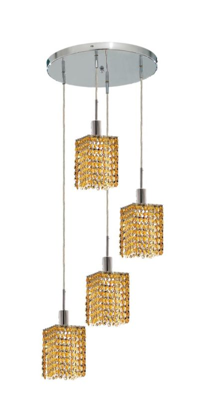 Elegant Lighting 1284D-R-S-LT Mini 4-Light Crystal Pendant Finished Sale $1480.00 ITEM: bci2009277 ID#:1284D-R-S-LT/SS :