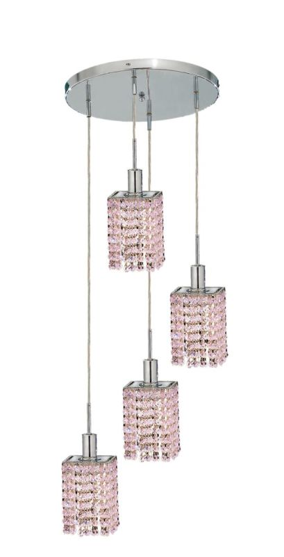 Elegant Lighting 1284D-R-S-RO Mini 4-Light Crystal Pendant Finished Sale $618.00 ITEM: bci2009278 ID#:1284D-R-S-RO/RC UPC: 609613234767 :