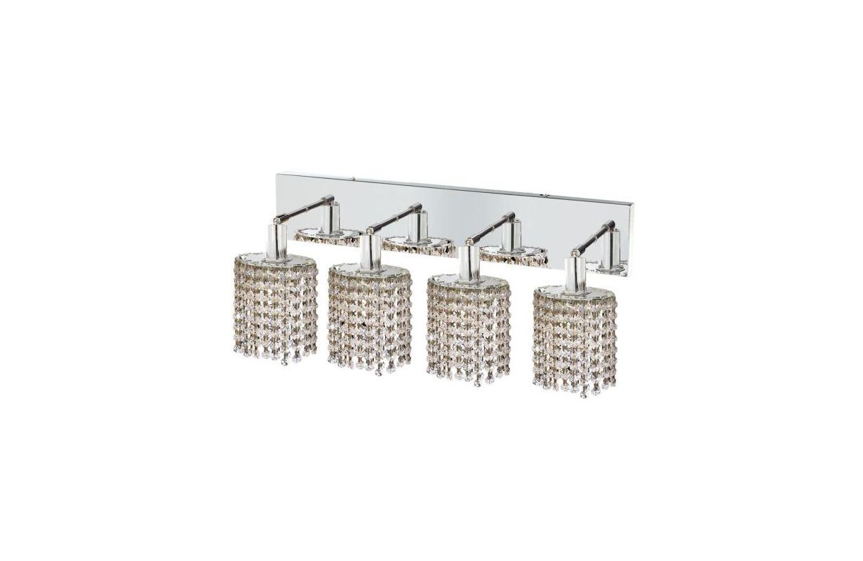Elegant Lighting 1284W-O-E-CL Mini 4-Light Crystal Wall Sconce