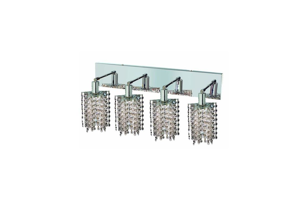 Elegant Lighting 1284W-O-P-CL Mini 4-Light Crystal Wall Sconce