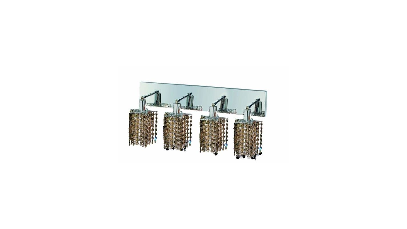 Elegant Lighting 1284W-O-P-GT Mini 4-Light Crystal Wall Sconce Sale $1480.00 ITEM: bci2009311 ID#:1284W-O-P-GT/SS :