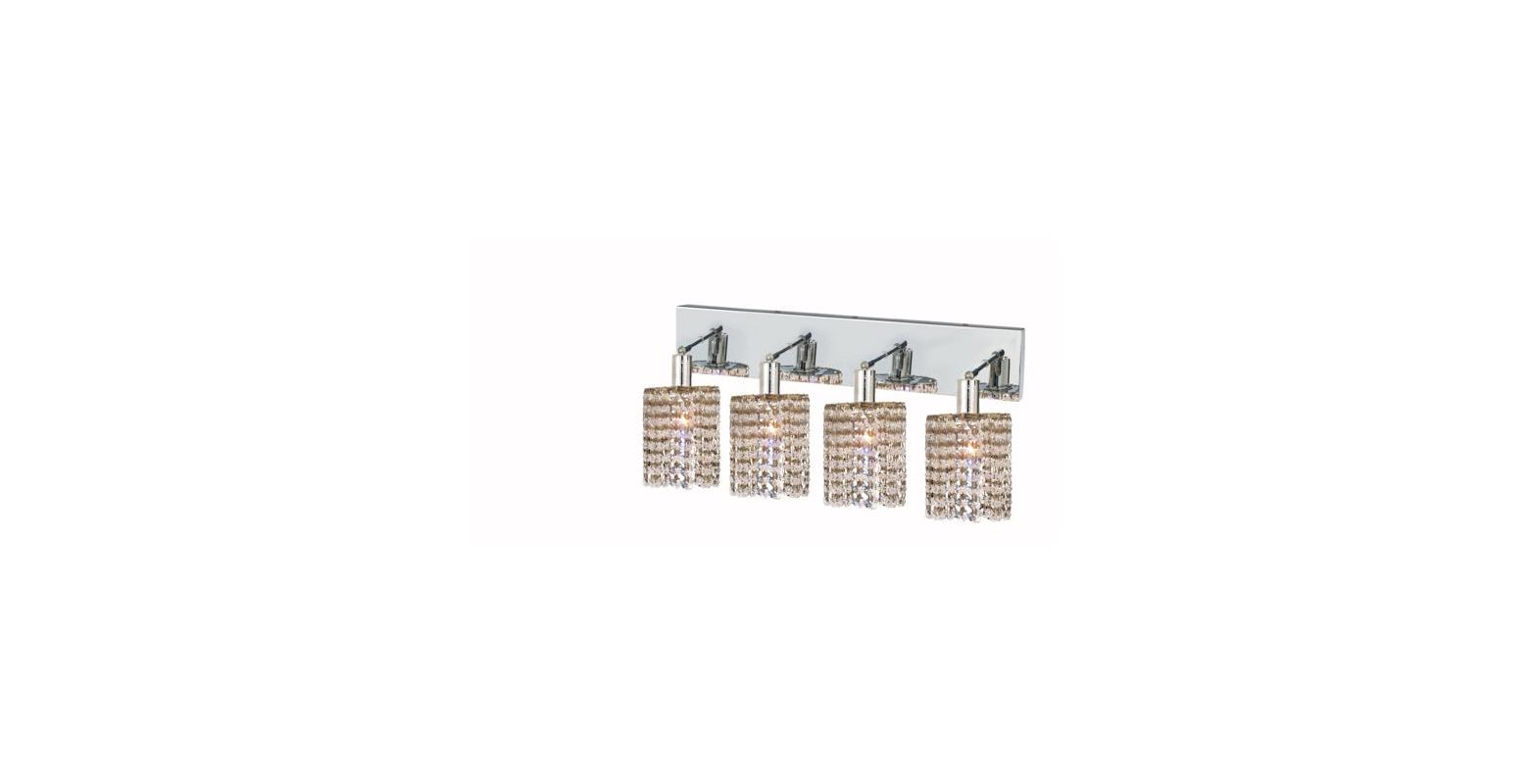 Elegant Lighting 1284W-O-R-CL Mini 4-Light Crystal Wall Sconce