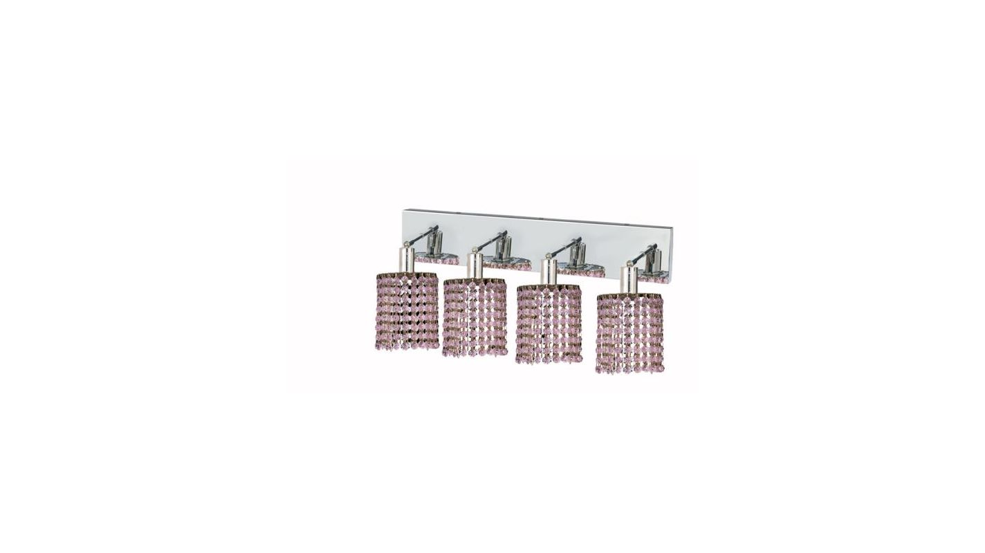 Elegant Lighting 1284W-O-R-RO Mini 4-Light Crystal Wall Sconce
