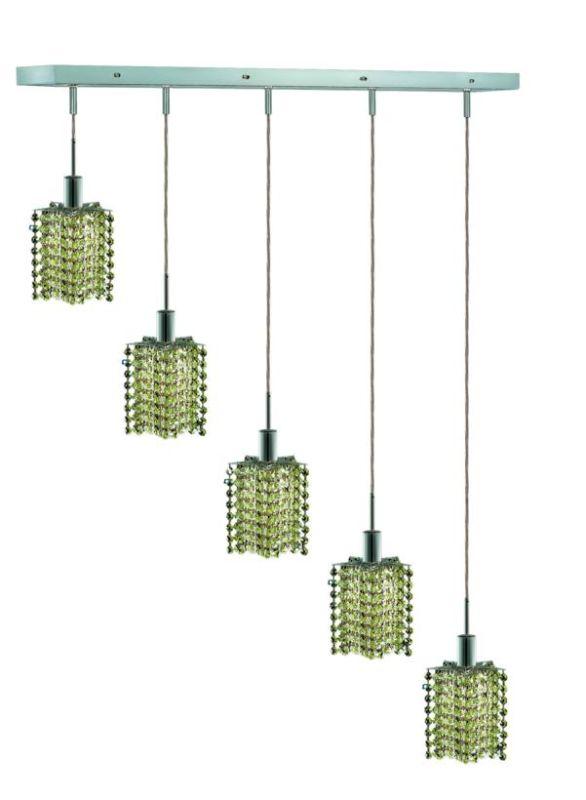 Elegant Lighting 1285D-O-P-LP Mini 5-Light Crystal Pendant Finished Sale $750.00 ITEM: bci2009394 ID#:1285D-O-P-LP/RC UPC: 609613235283 :