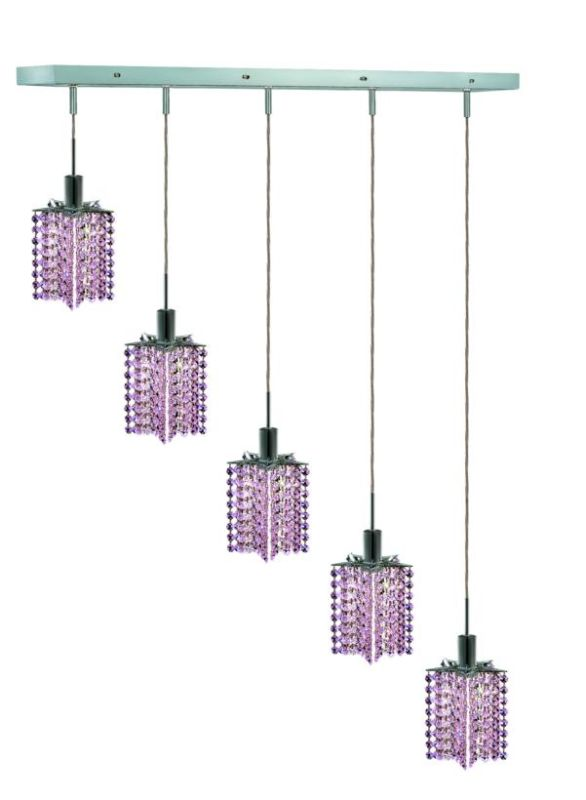 Elegant Lighting 1285D-O-P-RO Mini 5-Light Crystal Pendant Finished Sale $750.00 ITEM: bci2009398 ID#:1285D-O-P-RO/RC UPC: 609613235306 :