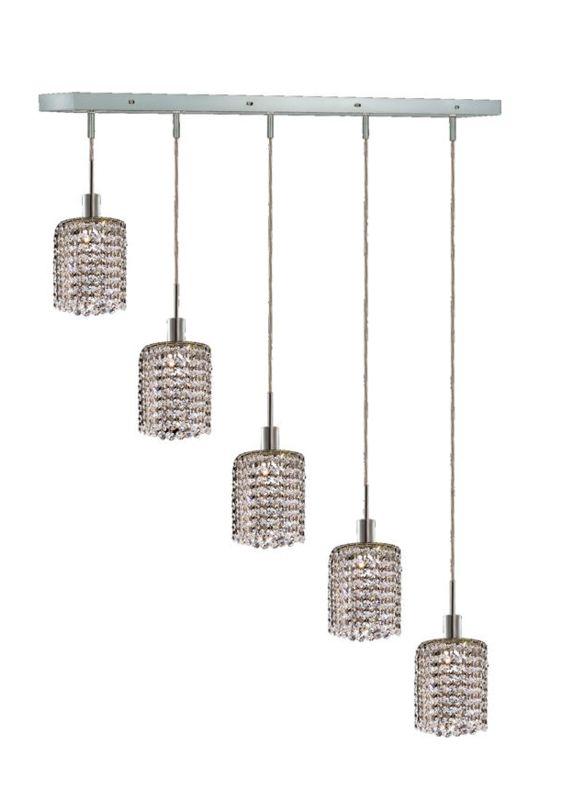 Elegant Lighting 1285D-O-R-CL Mini 5-Light Crystal Pendant Finished