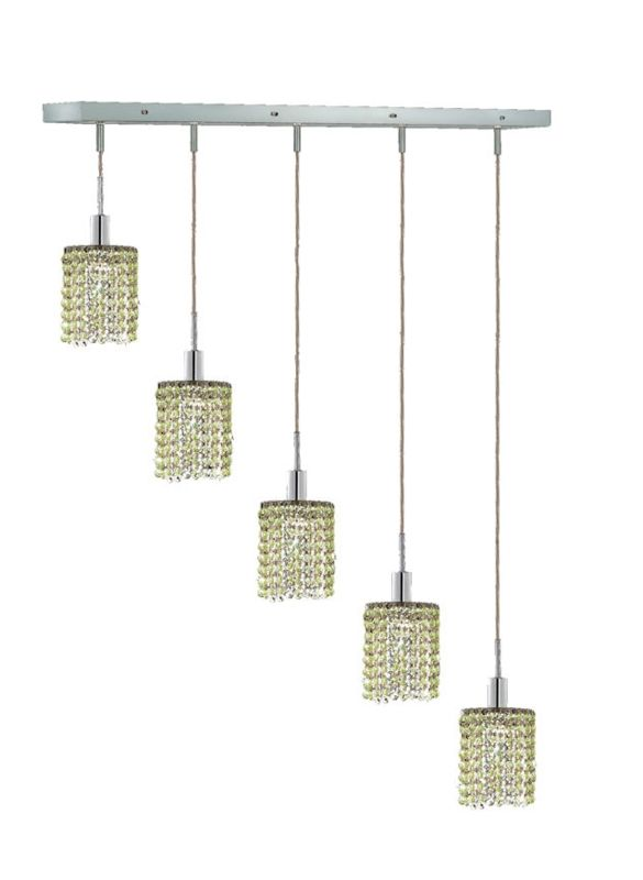 Elegant Lighting 1285D-O-R-LP Mini 5-Light Crystal Pendant Finished Sale $750.00 ITEM: bci2009414 ID#:1285D-O-R-LP/RC UPC: 609613235375 :