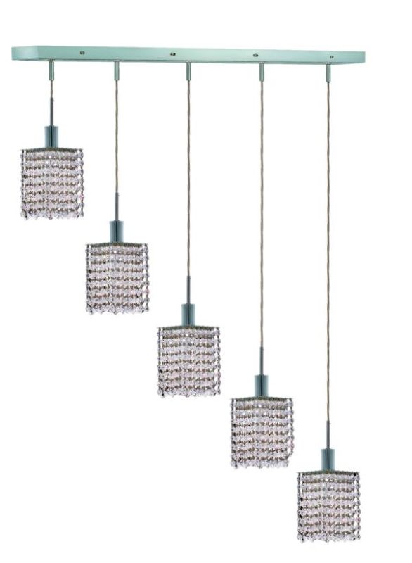 Elegant Lighting 1285D-O-S-CL Mini 5-Light Crystal Pendant Finished