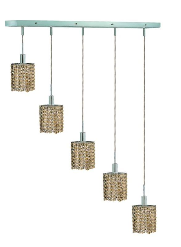 Elegant Lighting 1285D-O-S-GT Mini 5-Light Crystal Pendant Finished Sale $1906.00 ITEM: bci2009431 ID#:1285D-O-S-GT/SS :