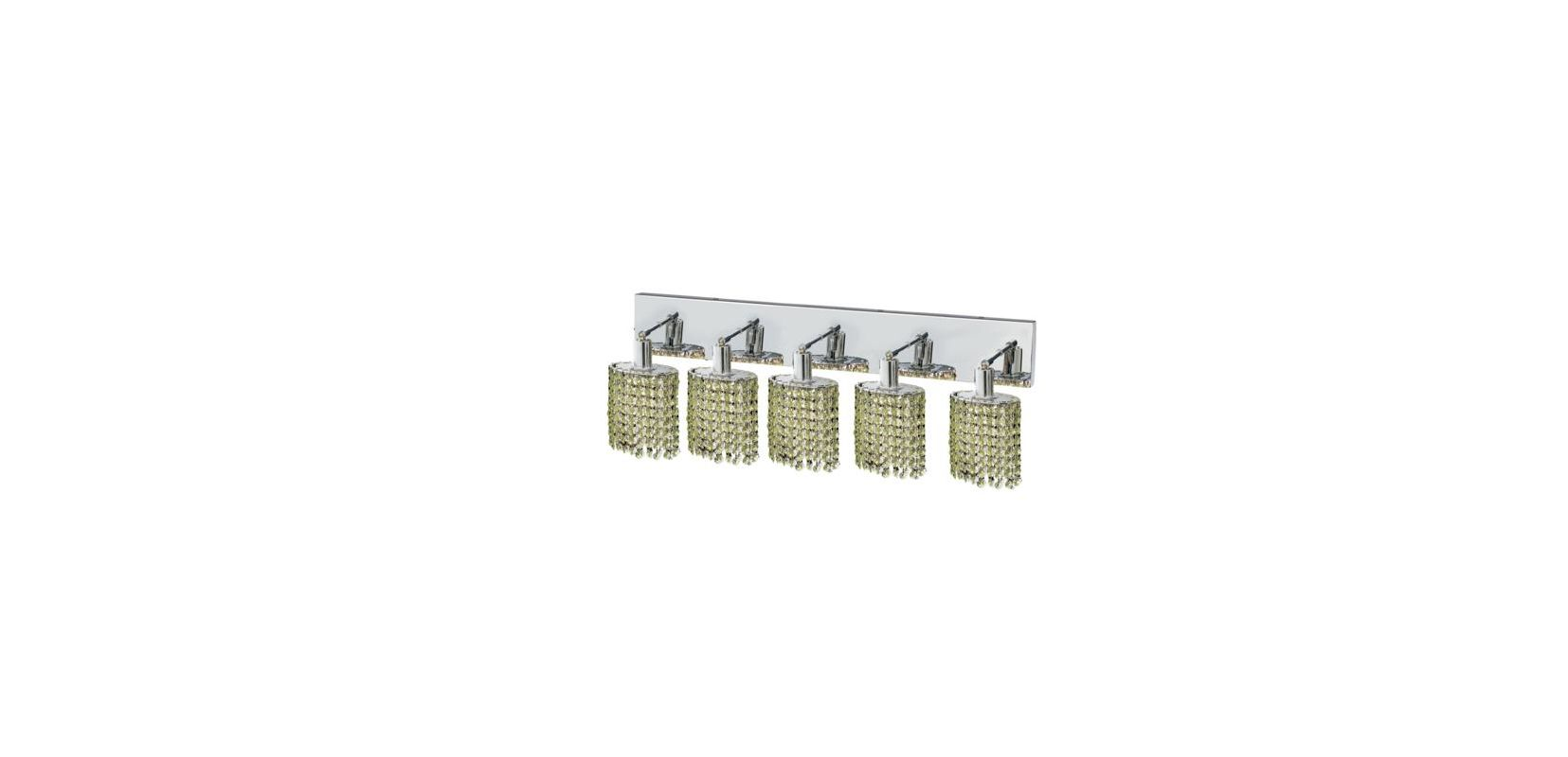 Elegant Lighting 1285W-O-E-LP Mini 5-Light Crystal Wall Sconce