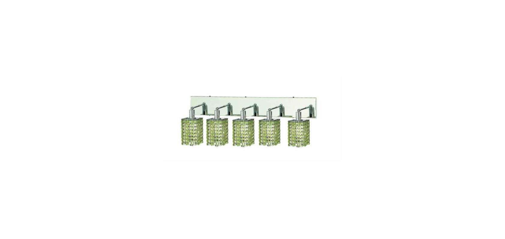 Elegant Lighting 1285W-O-S-LP Mini 5-Light Crystal Wall Sconce