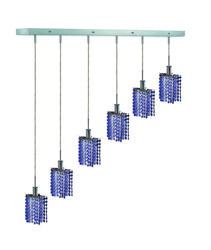 Elegant Lighting 1286D-O-P-SA Mini 6-Light Crystal Pendant Finished Sale $2288.00 ITEM: bci2009561 ID#:1286D-O-P-SA/SS :