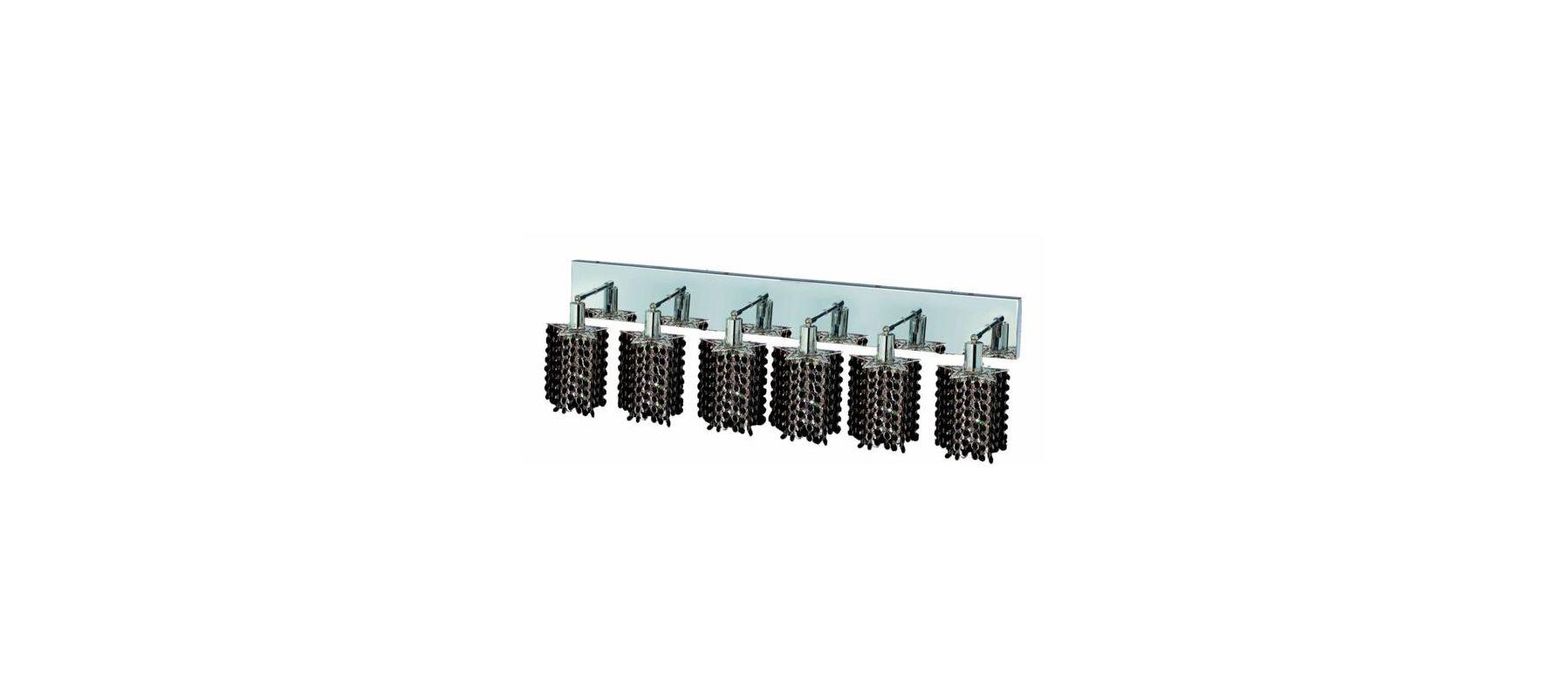 Elegant Lighting 1286W-O-P-JT Mini 6-Light Crystal Wall Sconce